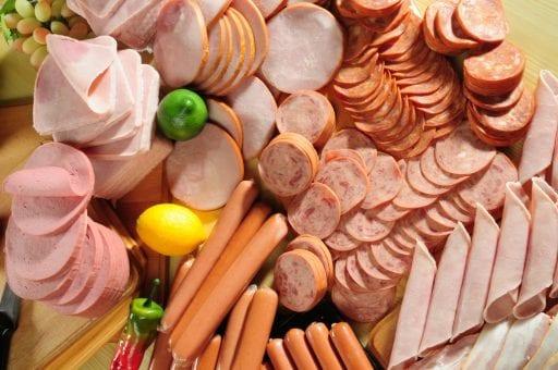 A platter of deli meats