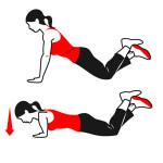push up on knee