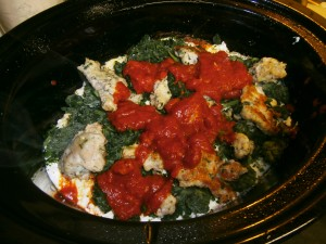 pre-cooked slow cooker spinach lasagna