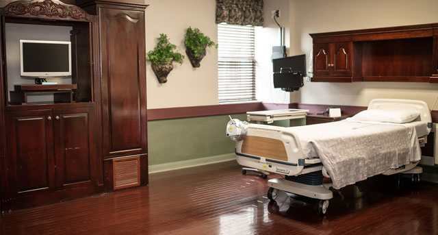 Weight Loss Surgery Patient Room at Summit Medical Center Oklahoma