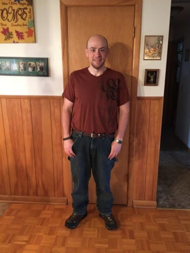 Brian has lost 192 pounds and 20 pant sizes!