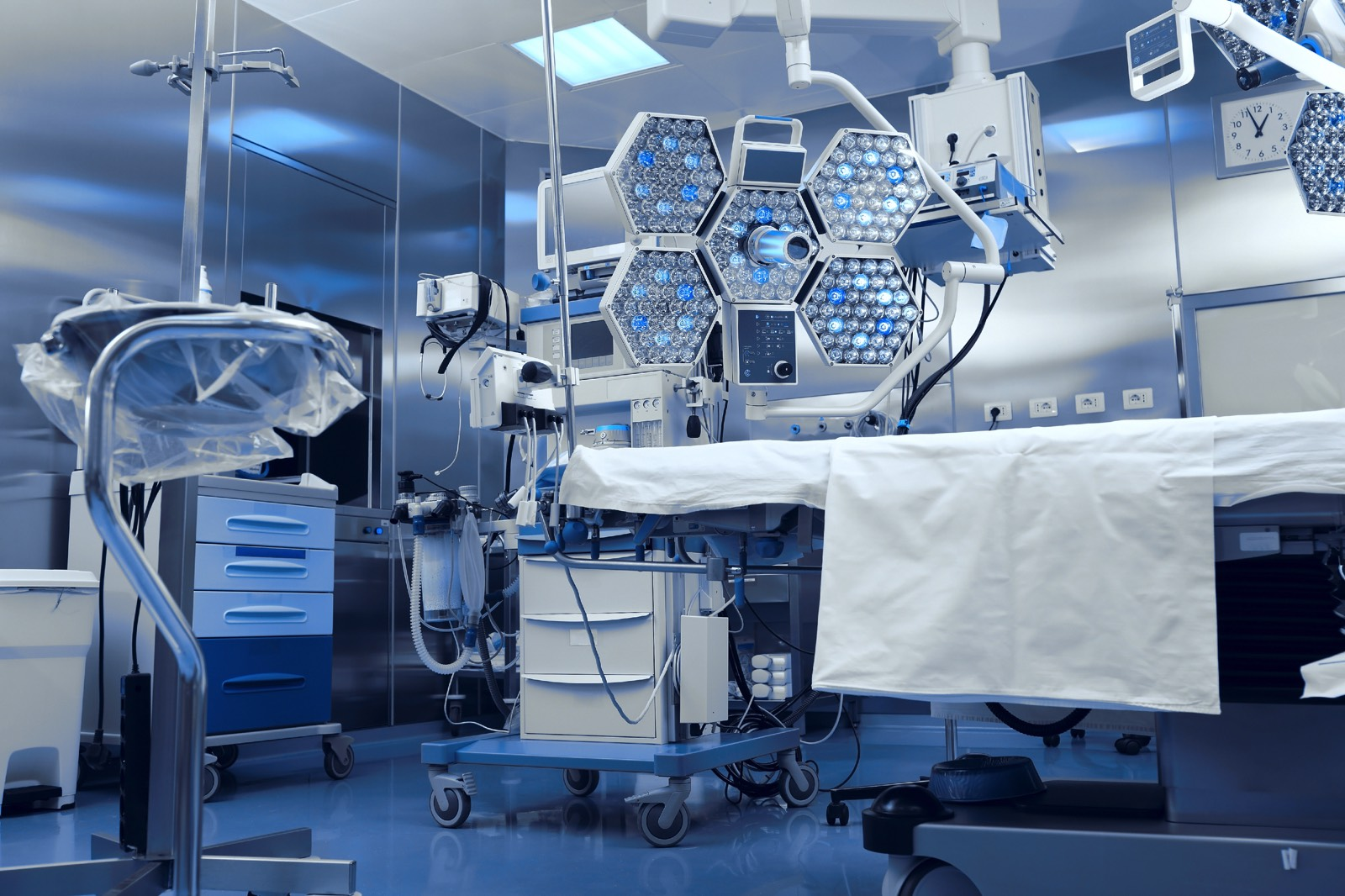 Technological advanced equipment in clinical operating room