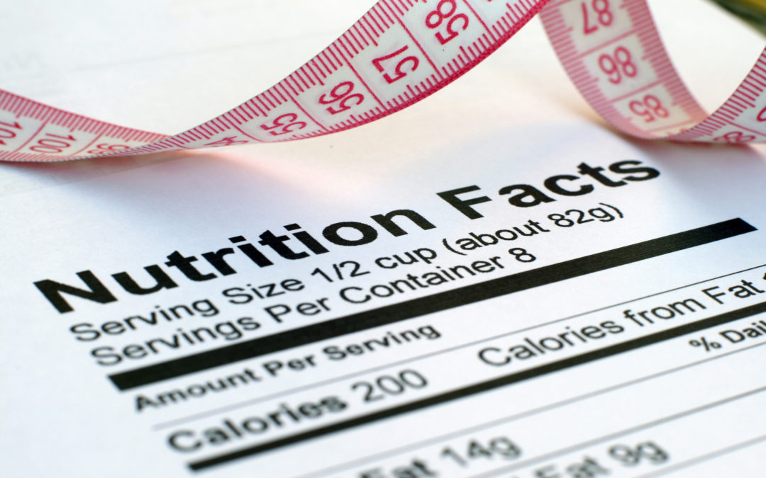 Nutrition facts label and measure tape to illustrate Effects Of Food Labeling On The Consumer