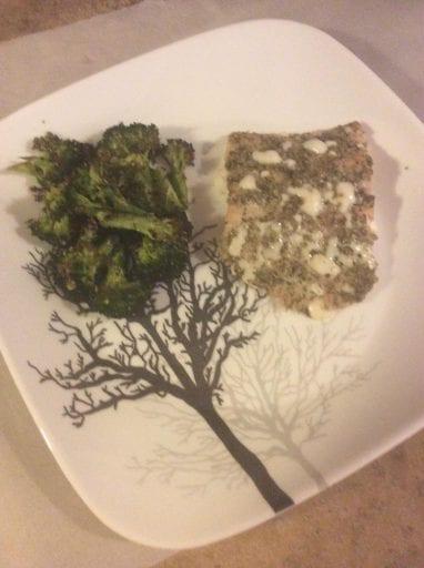 Baked Salmon and Broccoli