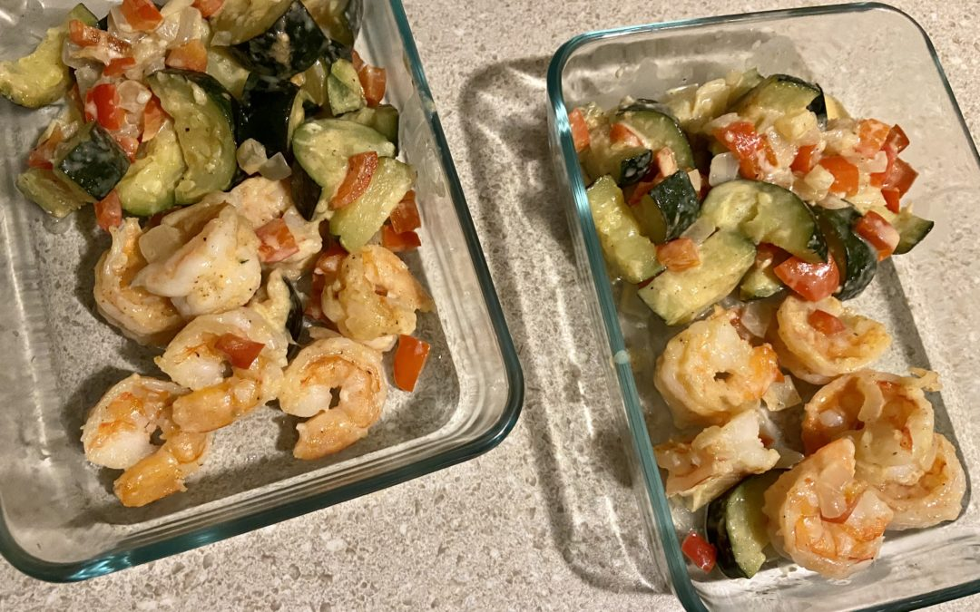 Parmesan Shrimp and Zucchini