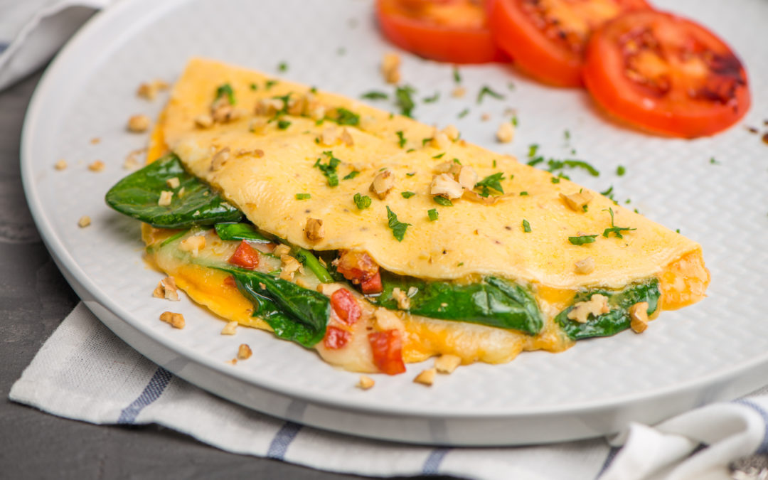 Omelet with vegetables to illustrate Bariatric Surgery Breakfast Food