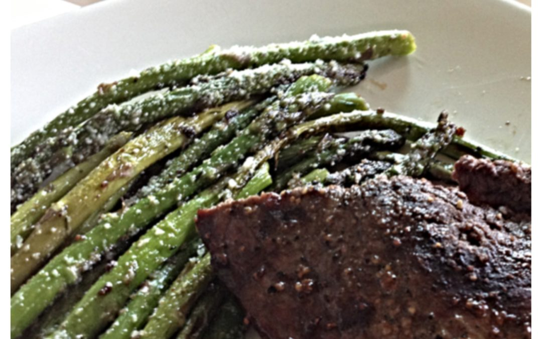 Steak and Pan Seared Asparagus