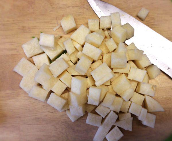 chopped jicama