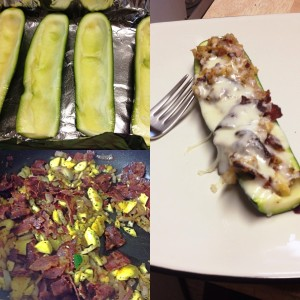 Bacon Stuffed Zucchini