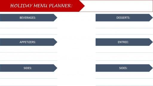 hoiday menu planning
