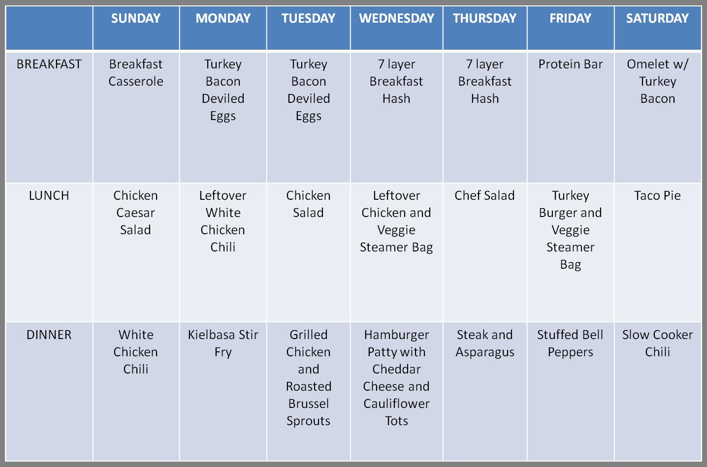 meal plan 11314