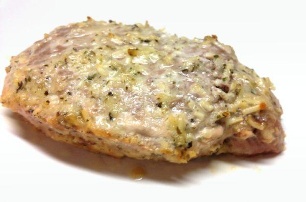 Parmesan Baked Pork Chop