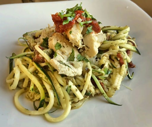 Pesto Pasta with Italian Lemon Chicken