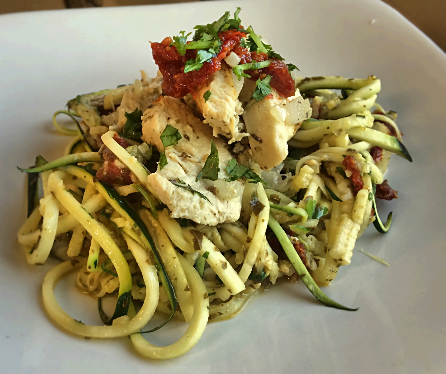 pesto pasta with italian lemon chicken 2