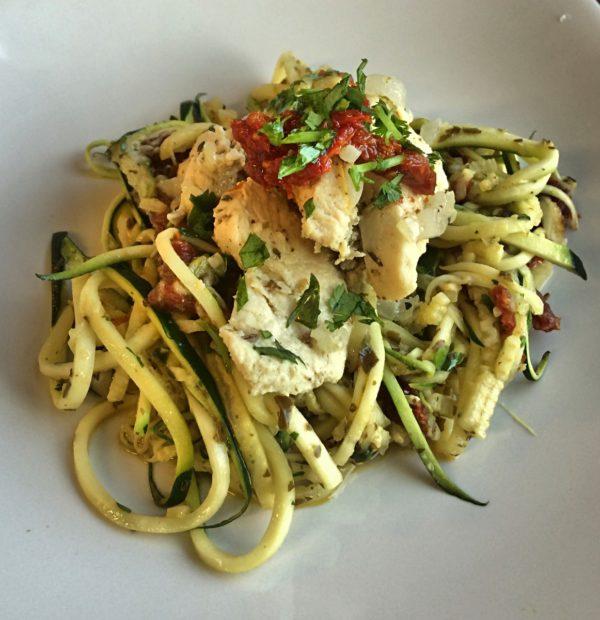 pesto pasta with italian lemon chicken 3