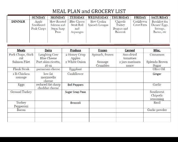 weekly menu 121613
